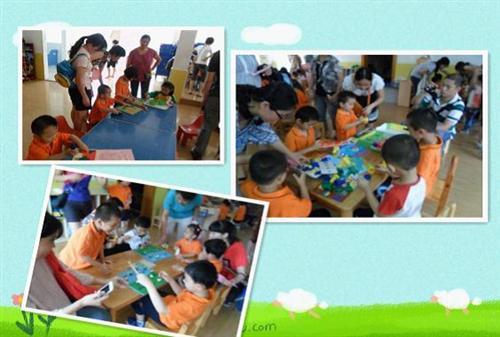 幼儿园弹珠子场景卡通图片